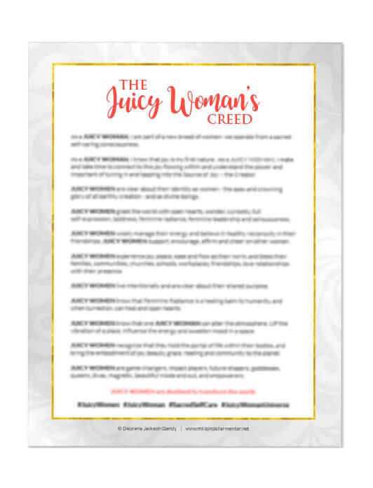 Bonus: Juicy Woman's Creed